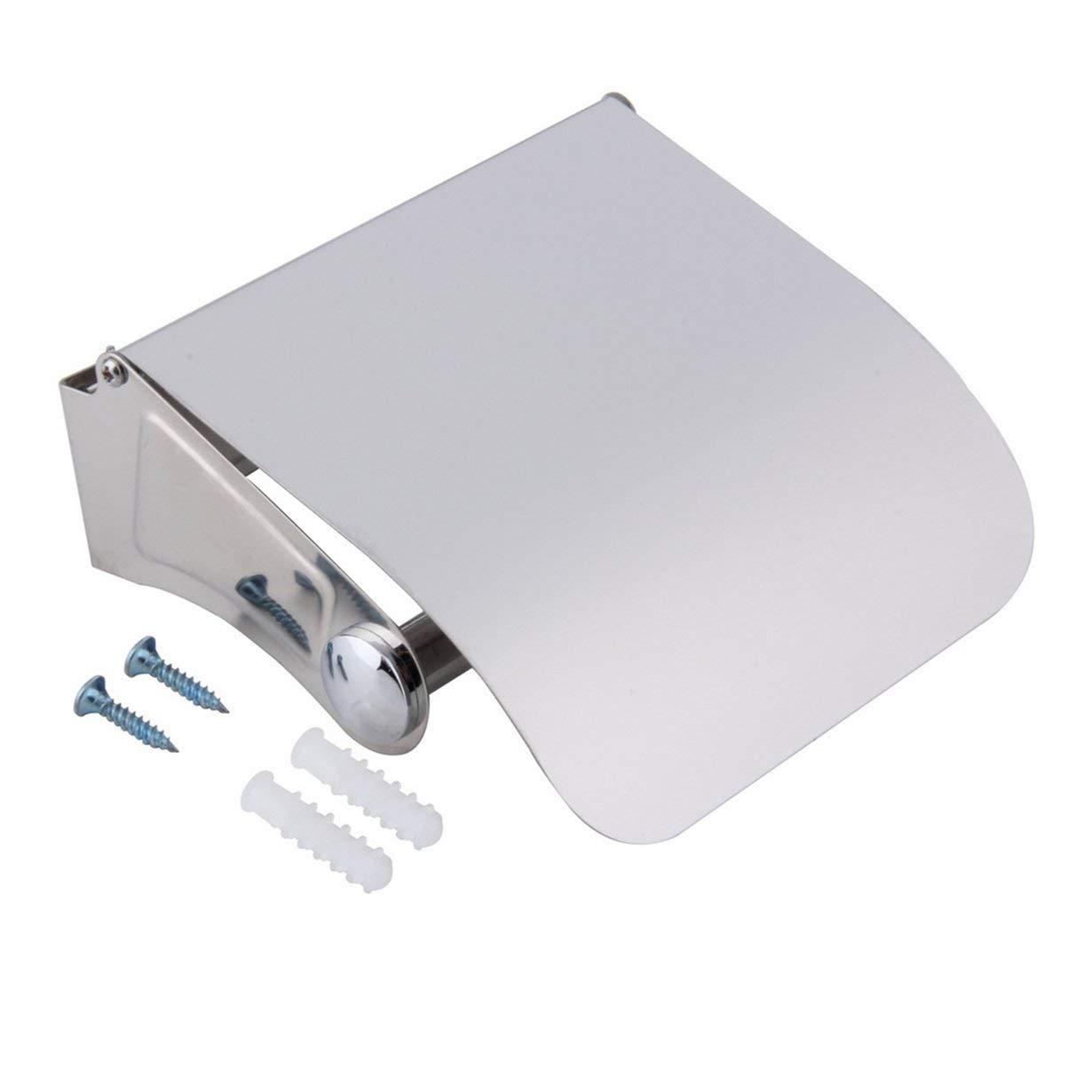Incredibili accessori da bagno resistenti Porta rotolo di carta igienica in acciaio inox Porta carta igienica UniqueHeart