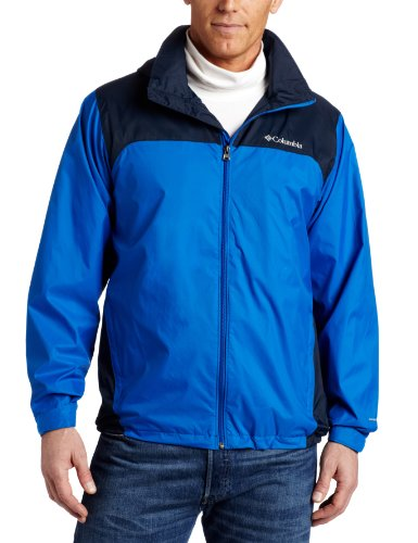 Columbia Men's Big & Tall Glennaker Lake Packable Rain Jacket,Blue Jay/Columbia -