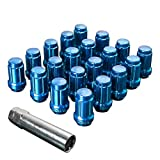 Upgr8 S-series 20 Pieces Steel Closed Ended Wheel Lug Nuts with Key (M12 X 1.25MM, Blue)