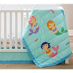 5133lX1816L._SS300_ Mermaid Crib Bedding and Mermaid Nursery Bedding Sets