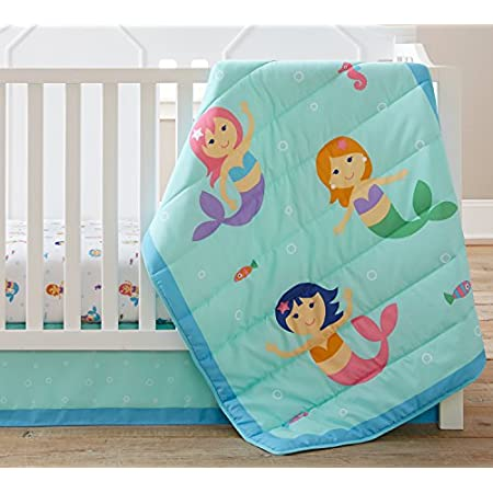 5133lX1816L._SS450_ Mermaid Crib Bedding and Mermaid Nursery Bedding Sets
