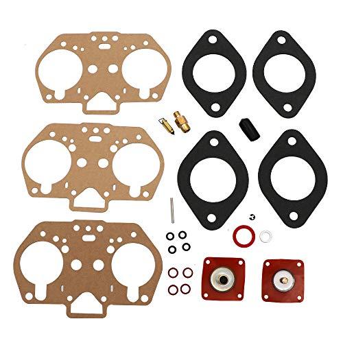 (KIPA Carburetor Rebuild repair kit For Weber 40IDF 44IDF 48IDF 40mm 44mm 48mm IDF Carb OEM Number 92.3240.05 92-3240-05 92324005 Mounting Gasket Needle seat Diaphram O-Rings)