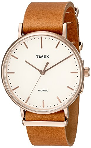 Timex Weekender Fairfield | Brown Leather Strap Minimal Dial | Casual TW2P91200 by Timex