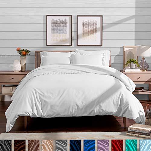 Easy Care White King - Bare Home Duvet Cover and Sham Set - King - Premium 1800 Ultra-Soft Brushed Microfiber - Hypoallergenic, Easy Care, Wrinkle Resistant (King, White)