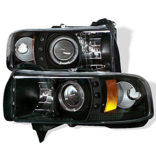For Dodge Ram 1500/2500/3500 Pickup Black CCFL Halo Ring LED Projector Replacement Headlights Left/Right