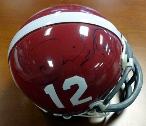 Thomas Autographed Helmet - Derrick Thomas Signed Alabama Replica Mini Helmet - Certified Genuine Autograph By PSA/DNA - Autographed NCAA College Football Helmets