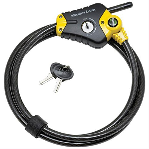 Master Lock 8433DAT 2 Pack 6ft. Python Adjustable Locking Cable, Yello and Black