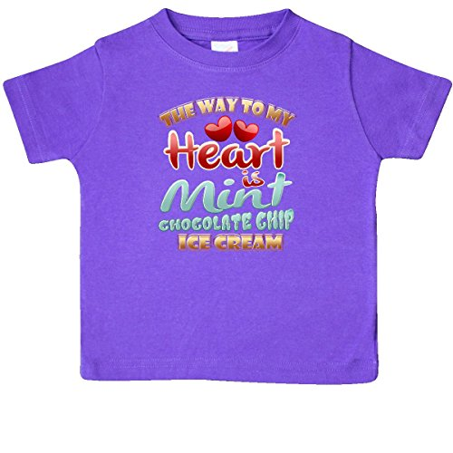 inktastic - Mint Chocolate Chip Ice Cream Baby T-Shirt 24 Months Purple ()