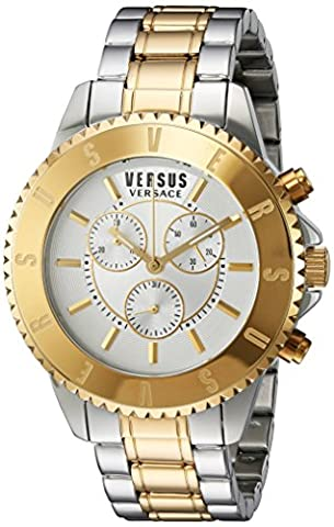 Versus by Versace Men's SGN120015 Tokyo Chrono Analog Display Quartz Two Tone Watch (Gold Versus Watches For Men)