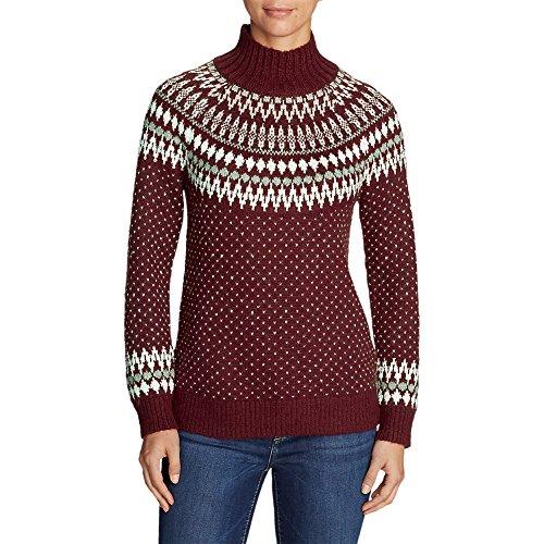 Eddie Bauer Women's Arctic Fair Isle Sweater, Dk Berry Regular - Isle Sweater