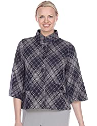 Terra-Sj Apparel Womens 3/4 Length Sleeve Button Down with Convertible Collar