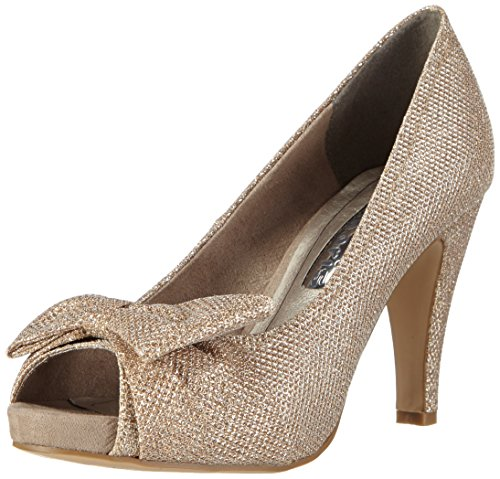 Tamaris 29300, Damen Peep-Toe Pumps, Silber (PLATINUM GLAM 970), 37 EU