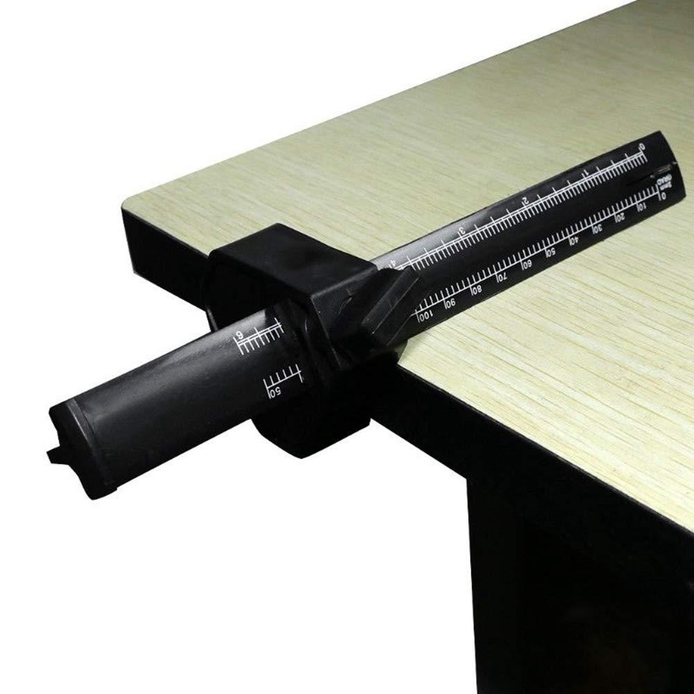 black Parallel Scriber Scale Gauge DIY Carpenters Scriber Mark Scraper W Scale Woodworking Marking Tool