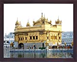 Golden temple, Seventh wonder of the world located at Sikh Holy City Amritsar, A Sikh Religious painting poster with frame, must for Sikh family home/office/Sikh Religious