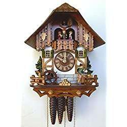 1-Day 10 in. Black Forest Cuckoo House Clock