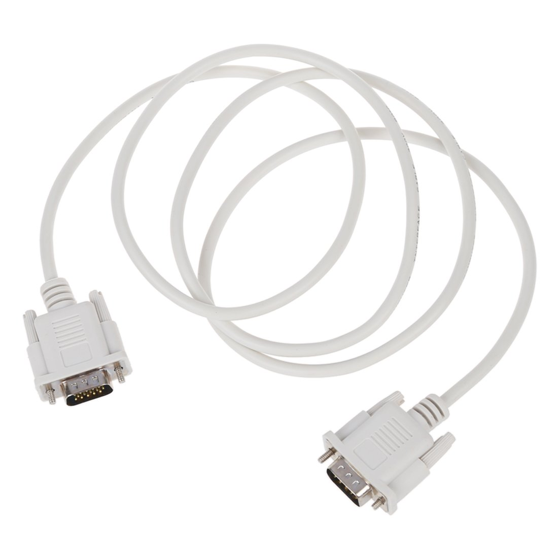 1.3m VGA Hd15 Male to Db9 Pin Male Adapter Cable White R SODIAL