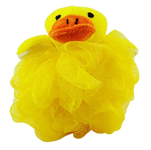 Divo Cute Animal Shape Bath Sponge Gentle Exfoliate Puff Pouf Spa Loofah Mesh Luffa Loofah Body Scrubber- 1 Pc by DIVO
