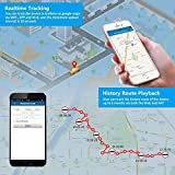 ZEERKEER GPS Tracker Long Time Standby Anti Lost Geo Fnece Remove Alarm Waterproof GPS Locator Real Time Tracking on Free App Strong Magnet for Cars SUVs Motorcycles Trucks Vehicles (5000 Mah)