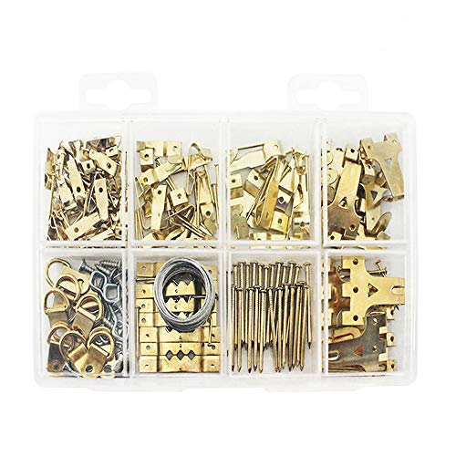 Heavy Duty Photo Frame Hooks, 220 Pieces Ultimate Picture Hanging Kit Picture Hanger Assortment Tool for Wall Mounting - Tool Free Mounting