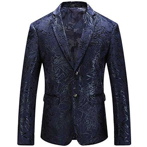 Blazers for Men Floral Dress Suit Jacket❤Party Tuxedos Slim Fit❤Luxury Notched Lapel Blazer