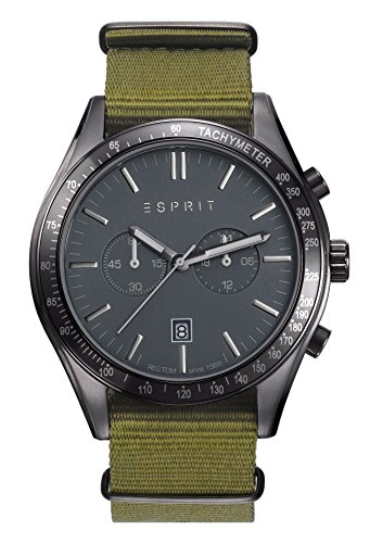 Esprit Watch TP10824 Nato Military Green - ES108241005-Green - Nylon-Round - 42 mm
