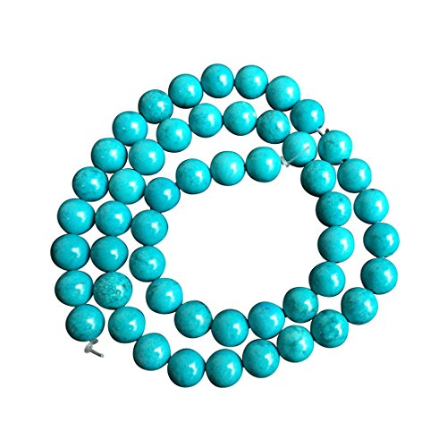 Natural Turquoise Gemstone 8mm Round Loose Stone Beads for Jewelry Making 15.5