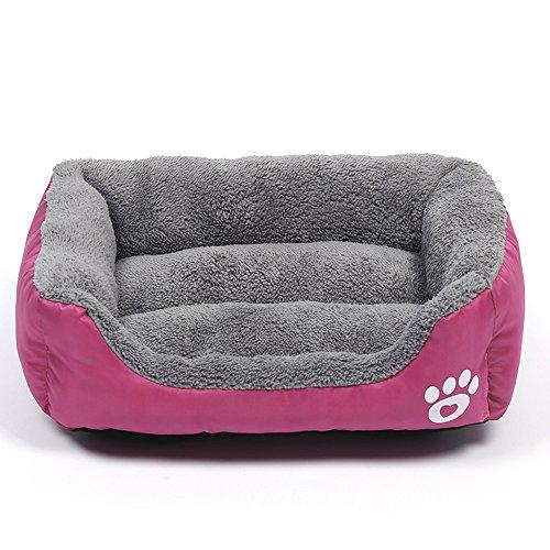 WYSBAOSHU Calentar Camas para Perros Suave Cama para Mascotas Sofá para Pequeña Medio Grande Perros & Gatos(S,Rose Red)