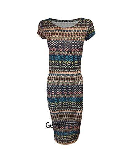 Generic - Robe - Femme Tribal Print M/L