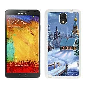 Customization Christmas Snow Scen White Samsung Galaxy Note 3 Case 1