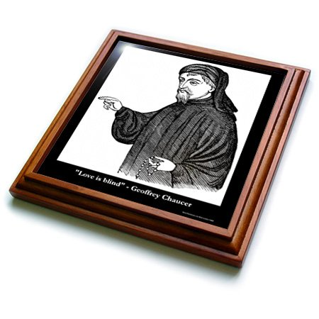 - Rick London Famous Love Quote Gifts - Geoffery Chaucer Love Is Blind - 8x8 Trivet with 6x6 ceramic tile (trv_19877_1)