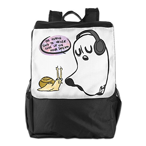 AIJFW Outdoor Travel Bag - Undertale Ghost Unisex Backpack Daypack Bookbags Rucksack College Bag
