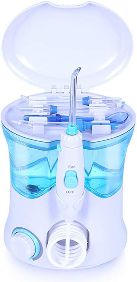 JJHZ Agua Flosser for Los Dientes,Irrigador Bucal con Capacidad De 600Ml,10 Ajustes De Presión,Recomendado por Dentistas Y Médicos De Higiene Bucal, Cuidado Familiar