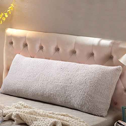 Body 54 Cover Pillow - Reafort Ultra Soft Sherpa Body Pillow Cover/Case with Zipper Closure 21