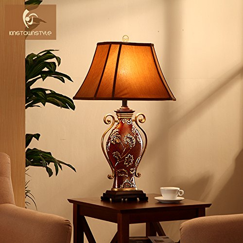 LINA-European-style luxury decorated living room Lamps Retro American neo-classical study bedroom bed lamps by LINA chandelier (Image #1)