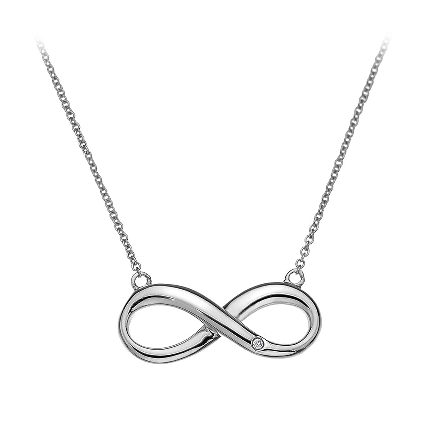 Sterling Silver Diamond Accent Infinity Necklace Amazon