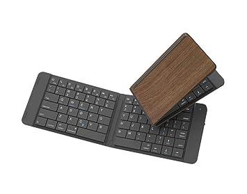 XIYANG Teclado, Mini Teclado Plegable portátil Bluetooth para Todos los Dispositivos con iOS/Android
