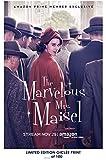 RARE POSTER rachel brosnahan THE MARVELOUS MRS. MAISEL limited 2018 REPRINT #'d/100!! 12x18