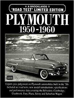 Plymouth 1950-1960 (Brooklands Road Test Books): R M  Clarke