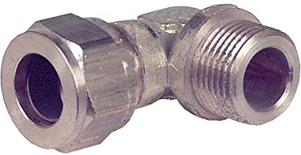 Klemmringverschraubung aus Messing 3//4 12 mm x DN 20 AG