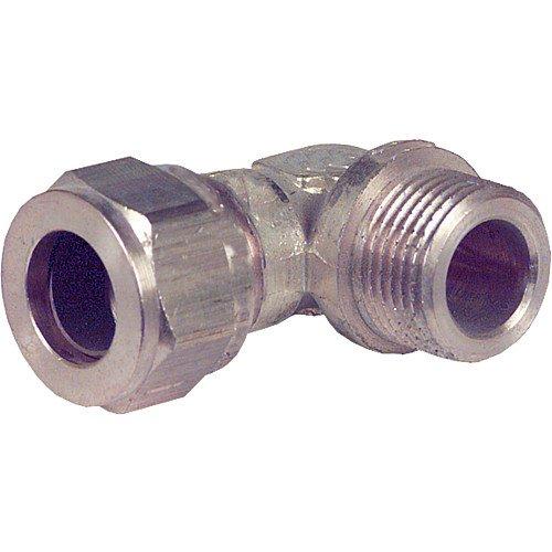 1 einseitig AG Winkel 90/° 28 mm x DN 25 Klemmringverschraubung aus Messing