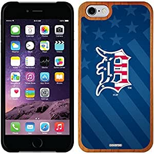 fashion case iphone 4s Madera Wood Thinshield Case with Detroit Tigers USA Blue Design