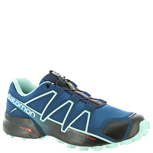 Salomon Womens Speedcross 4 W Trail Runner Poseidon / Guscio Duovo Blu / Nero