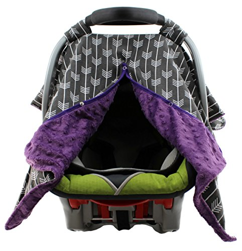 purple baby car seat covers - 7