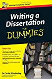Writing a Dissertation for Dummies, Carrie Winstanley, 0470742704