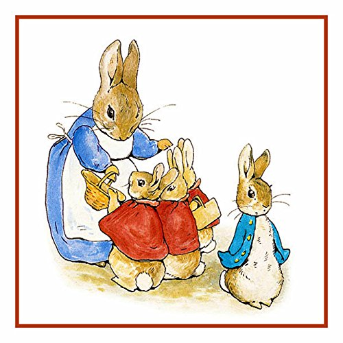 Cross Peter Pattern Stitch Rabbit (Orenco Originals Peter Family Prepare for Walk Beatrix Potter Counted Cross Stitch Pattern)