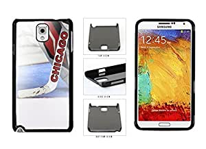 Chicago Goalie And Hockey Stick Plastic Phone Case Back Cover Samsung Galaxy Note III 3 N9002