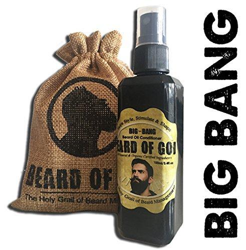 Beard of God 3.4oz BIG-BANG Oil Conditioner & Sack • TOBACCO HAVANA • CUBAN • Organic • Made to Order