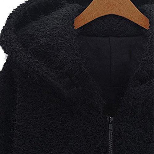 lana top outwear encapuchados ropa caliente con abrigo parka capa acolchado manga larga Logobeing invierno traje jersey Mujeres cardigan Algodón sudadera cremallera capucha chaqueta gruesa Pqw4gaERa