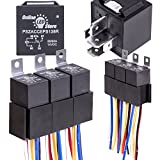 5 Pack OLS 12V 60/80 Amp Relay Switch Harness Set - HEAVY DUTY 5-Pin SPDT Automotive Relays 12 AWG Hot Wires