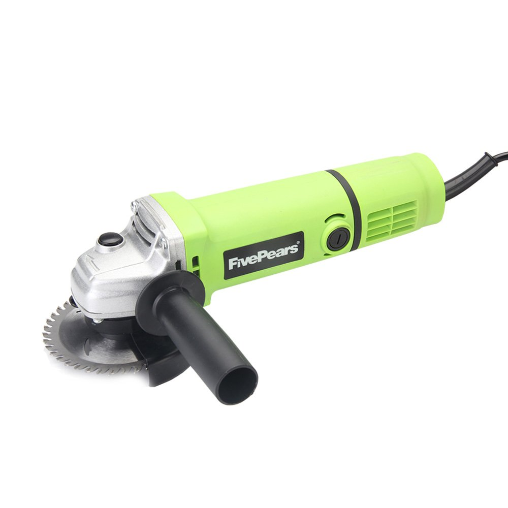FivePears 220V 750W 4 inch Angle Grinder Electric Power Tool Polisher Angular Grinder with 100mm Disc Pad